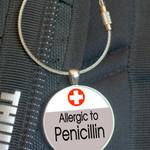 School Bag Tag, Medic Alert - Penicillin Allergy