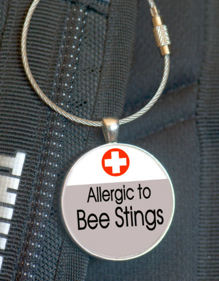 School Bag Tags, Medic Alert - Bee Sting Allergy