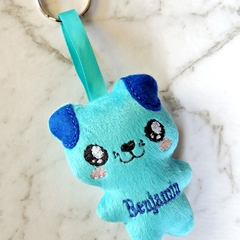 Personalised puppy softie bag charm