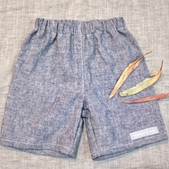 Shorts - indigo denim | hemp organic cotton | 2 years | toddler eco friendly