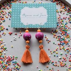Statement tassel earrings