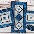 Australiana table runner - Blue Wren