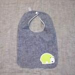 baby bib - green wombat / hemp organic cotton bamboo towelling / unisex