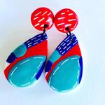 Summadaze Stud Tear Drop Statement Earrings