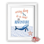 Whales Adventure Quote Printable