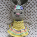 Easter Bunny, READY TO POST, Crochet Toy, Girl Gift