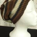 Unisex adult hand knit slouchy-beanieMurano 1