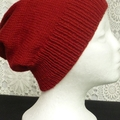 Unisex adult hand knit Slouchy-beanieClassic 1/4