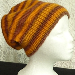 Unisex adult hand knit slouchy/beanie Murano 2