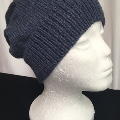 Unisex adult hand knit Slouchy-beanieClassic 1/3