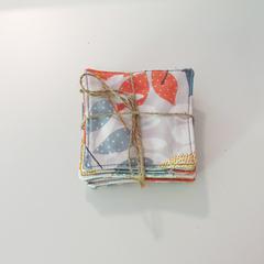 Fabric Coasters - Autumn light - Set of 8
