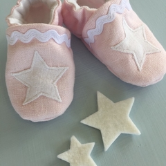 Stella Linen baby shoes