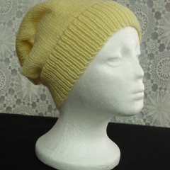 Unisex adult hand knit Slouchy-beanie Stellar 2/4