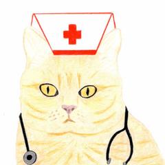 Ginger Cat Nurse: Get Well Card