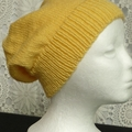 Unisex adult hand knit  Slouchy/beanieClassic 2/4