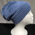 Unisex adult hand knit Slouchy/beanie Stellar 1/4