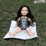 "One Piece Silver Swimsuit for 46cm (18"") dolls."
