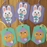 easter tag - rabbit & chick tags handmade - free Aus Post