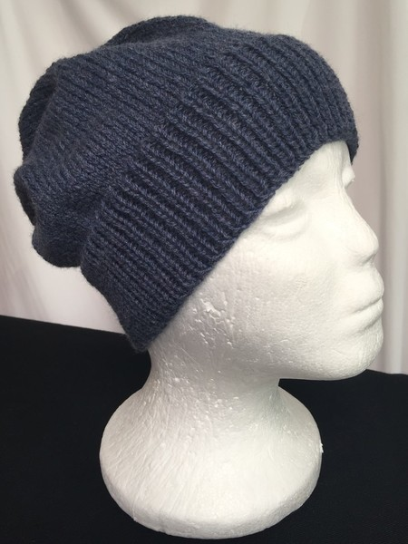 Unisex adult hand knit Slouchy-beanie Classic 1/3