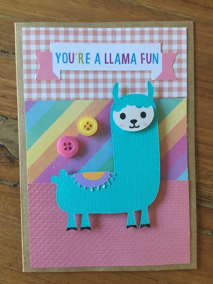 Valentines Day Card Llama Free Aus Post Willow Fox Design