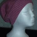 Unisex adult hand knit Slouchy-beanieStellar 3/4