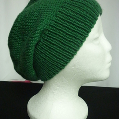 Unisex Adult Hand Knit Slouchy/beanieMilky-Way 1