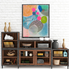 Wall Art Abstract Print Happy Land
