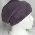 Unisex adult hand knit Slouchy/beanie Australian Alpaca  & Wool Mix 2/2
