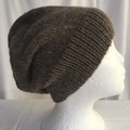 Unisex adult hand knit Slouchy/beanieAlpaca Rich 1
