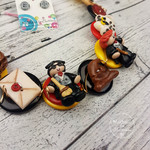 Magical - Necklace Buttons and Polymer - Jewellery - Earrings