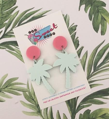 Keep Palm Acrylic Palm Tree Earrings.