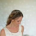 wedding hairpiece, flower crown, hair vine, bridal accessory, wedding accessory
