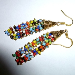 Seed beads drop earrings