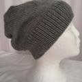 Unisex adult hand knit slouchy-beanie  Soft Acrylic
