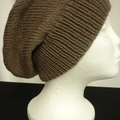 Unisex adult hand  knit slouchy/beanieLuxury- wool page 1/2