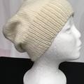Unisex adult hand knit slouchy/beanie  Alpaca-wool Savanna