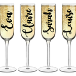 DIY Bridal party glass decal vinyl labels - wedding labels and decals