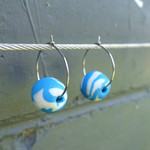 Small hoop earrings, everyday dangles, gift under 20, drop earrings,polymer clay
