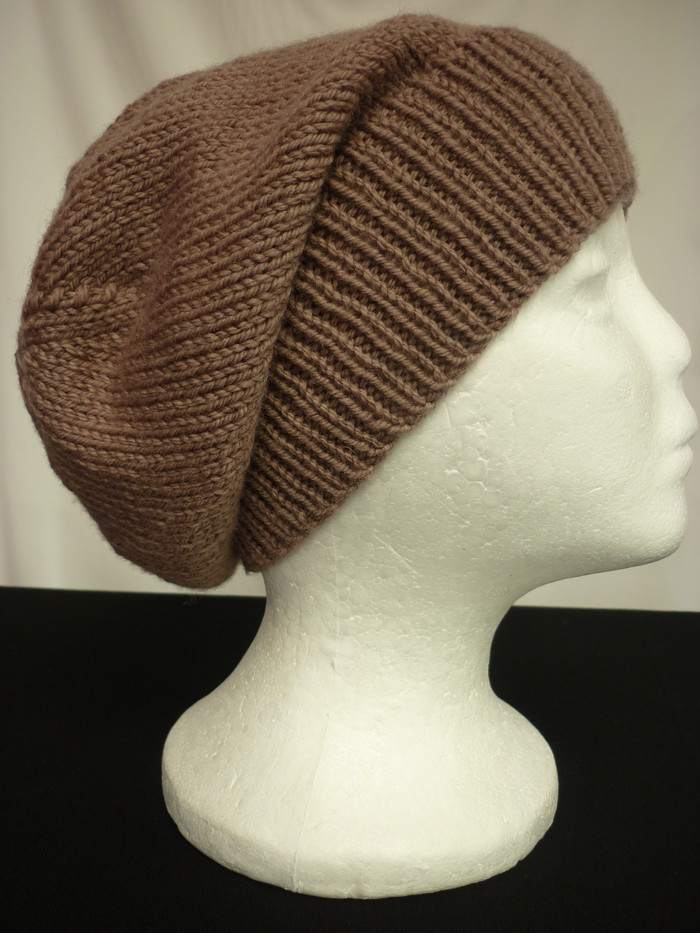 Unisex adult hand-knitted soft wool slouchy-beanies sew-ezy-australia