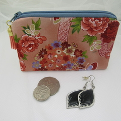 Coin Purse - Oriental Butterfly Print