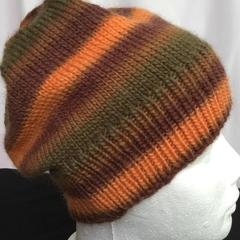 Unisex childs hand knit slouchy-beanieMurano 1/1