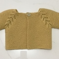 Baby Cardigan, 3 - 6 mths, FREE POST, Yellow Gold Wool, Hand Knit