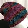 Unisex childs hand knit slouchy-beanie Murano 1