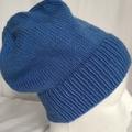Unisex childs hand knit slouchy-beanie acrylic 3