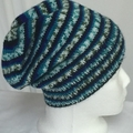 Unisex childs hand knit slouchy-beanieMulti Acrylic 1