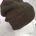 Unisex childs hand knit slouchy-beanie acrylic 4