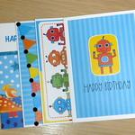 Set 4 Kids Birthday cards