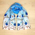Australian Splendid Fairy Wren scarf, Blue Wren, Native South Western Australia