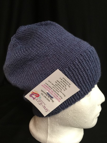 Unisex childs hand knit slouchy-beanie Bamboo-Wool Stellar 1