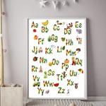 Lego A-Z Alphabet Wall Art Print
